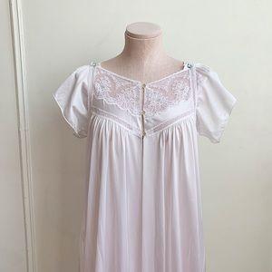 Vintage Long White Peignoir Robe